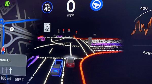 Tesla activa la cámara en sus coches que usan el piloto automático